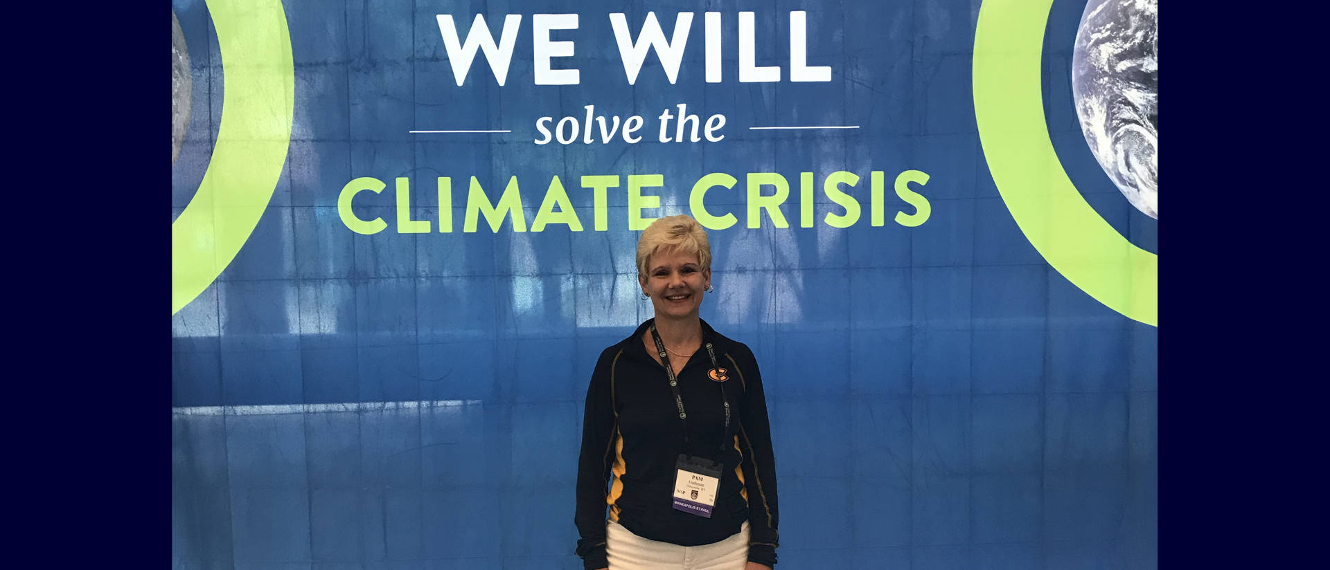 Pamela Guthman at climate conference