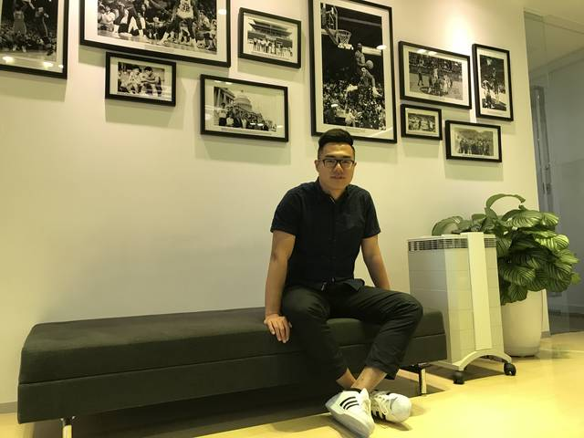 UW-Eau Claire senior Zixuan (Jason) Jiang worked as an intern this summer for NBA China.