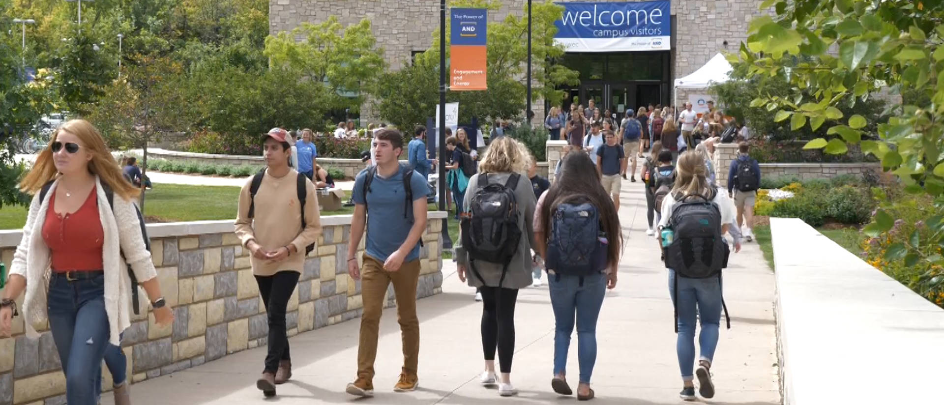 Students on first day, fall 2019