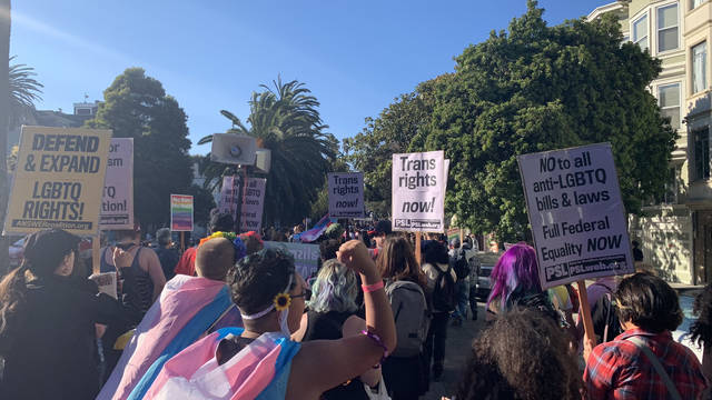 March in San Fran for PRIDE week.