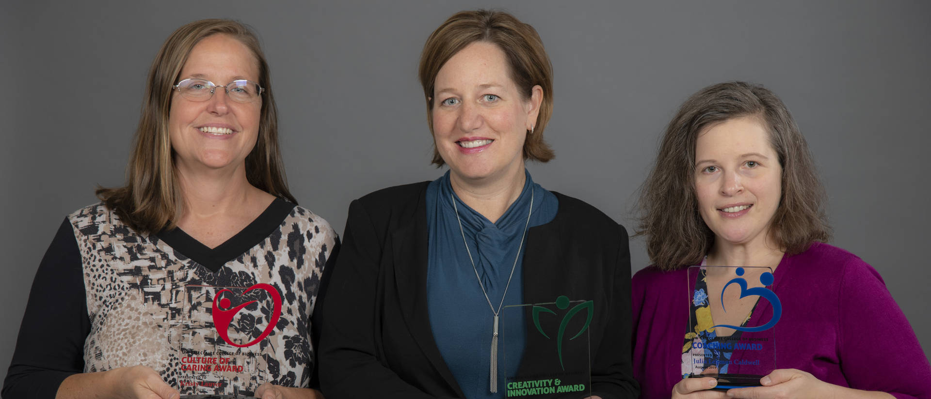 Caldwell Lehman, Johs-Artisensi, Lauver recognized for their service to the College of Business