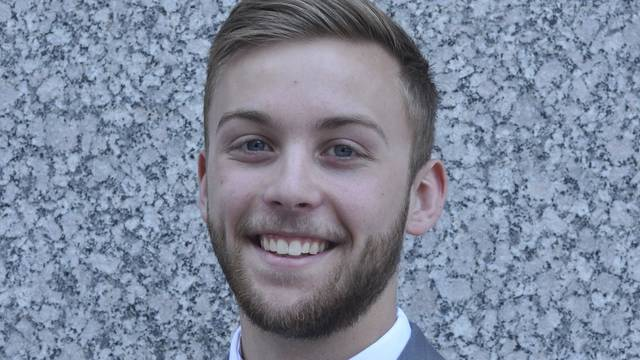 David Miller, actuarial science major, intern at Travelers Insurance in St. Paul