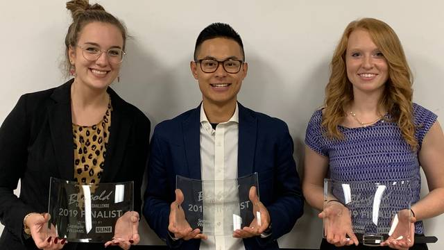 Baker, Benck, and Tran 2019 Sales Challenge Finalists