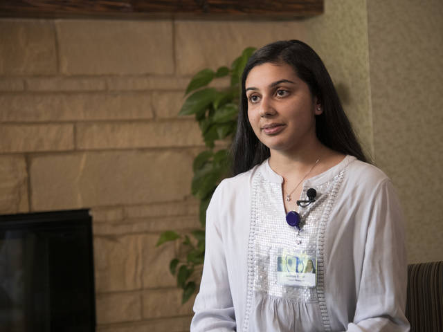 Shanzay Suhail, a senior biochemistry/molecular biology major, worked in the Mayo Clinic Health System's Cancer Center on a research project that will help providers better communicate important information to cancer patients and their loved ones.