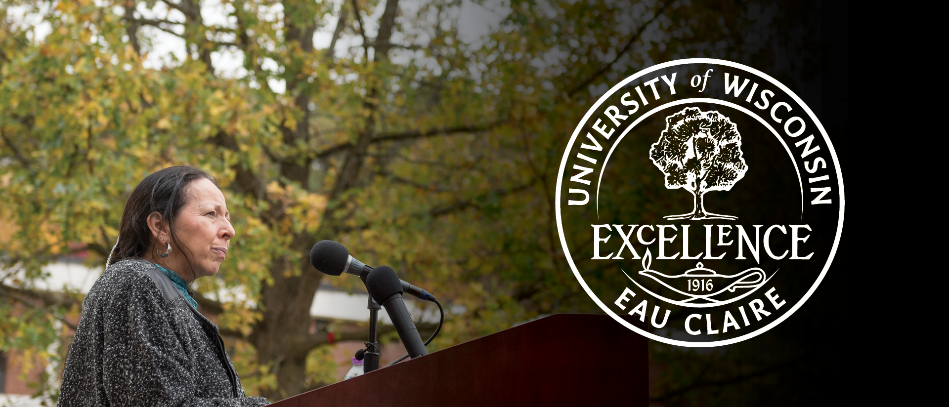 """The University Seal prominently features the Council Oak tree and the word """"Excellence"""""""