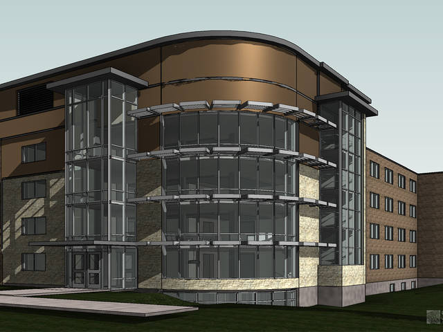 Governors Hall renovation artist's rendering