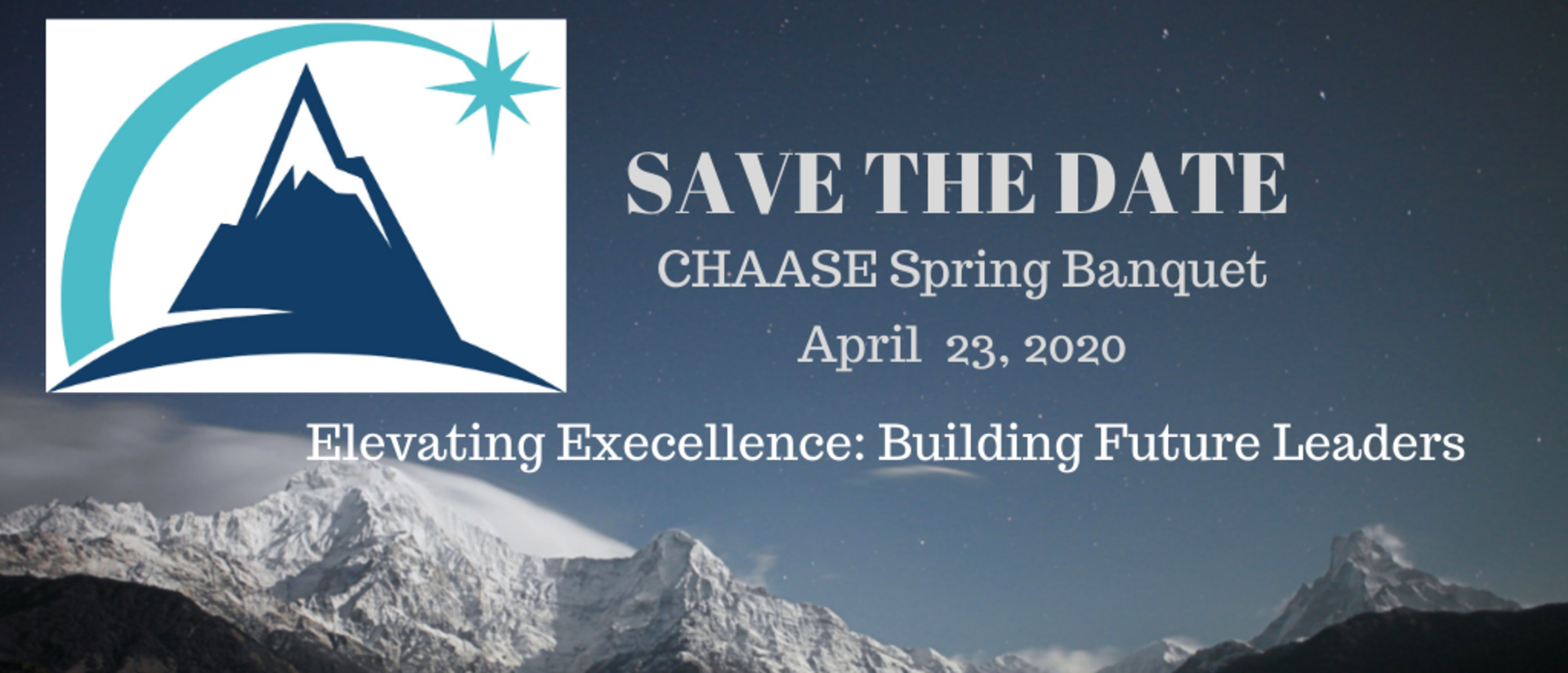 CHAASE Save the Date 2020 Spring Banquet
