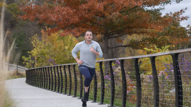 Ricky Schiff training for half marathon