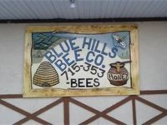 Blue Hills Bee Co. sign