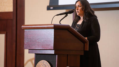 Heather Ann Moody speaking at Indigenous Peoples Day