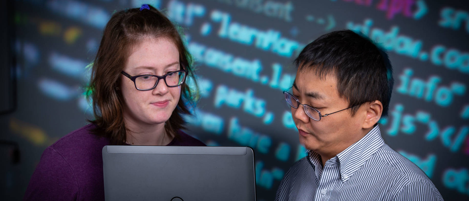 UW-Eau Claire student Emma Fischer and Dr. Ying Ma, associate professor of materials science
