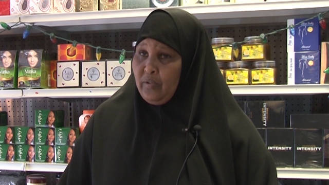 Fadumo Hassan, shop owner in Barron, WI