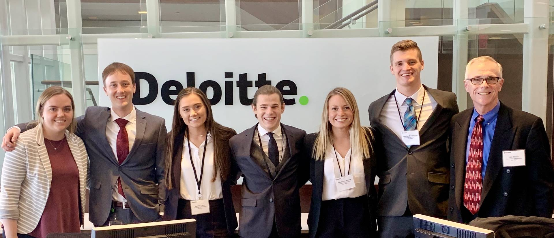 Accounting students at Deloitte Case Competition