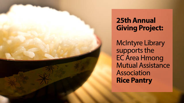 "Bowl of rice and banner reading ""25th annual giving project"""