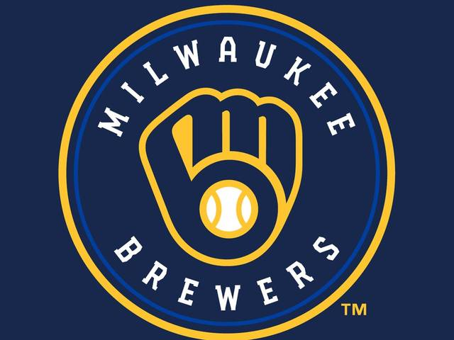 The Milwaukee Brewers are again using a logo created by Tom Meindel, who was an art student at UW-Eau Claire when he submitted it as part of a contest.