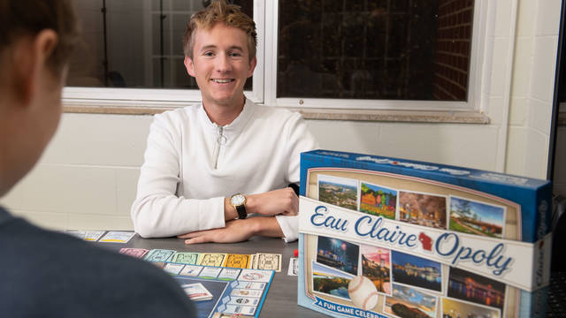 Bradley Johnson of Collegiate Entrepreneurs' Organization was a leader in making Eau Claire-Opoly a reality