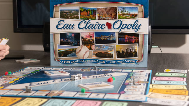 Eau Claire-Opoly features Eau Claire businesses, parks and other places familiar to students and others who live in the area.