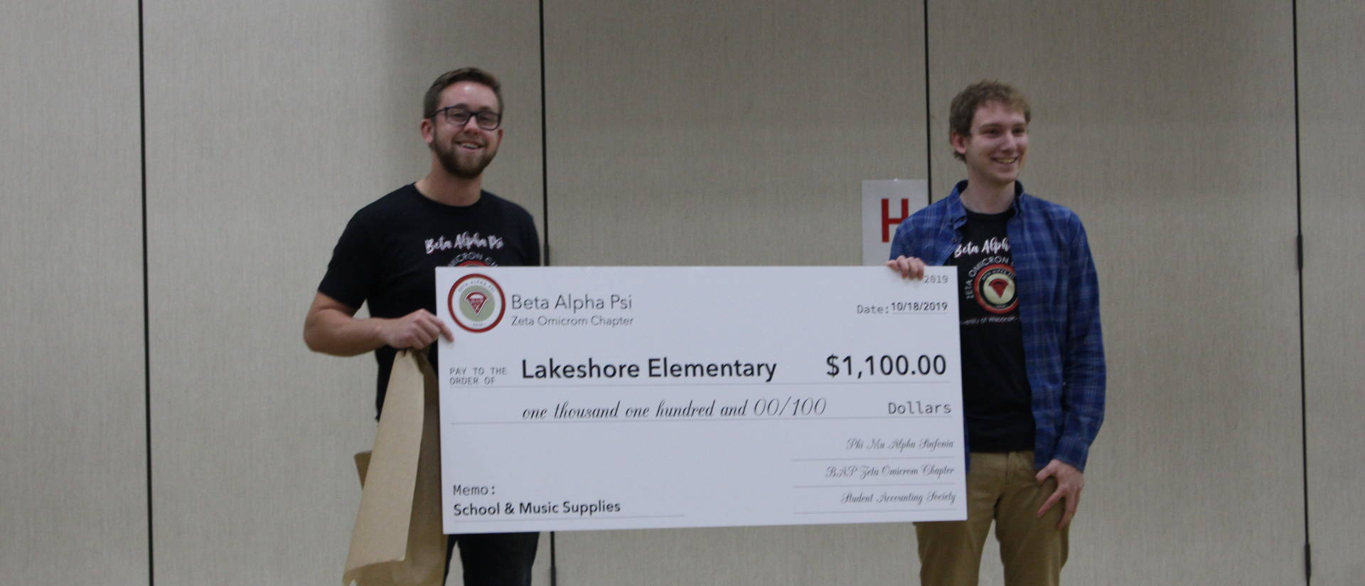 BAP donation to Lakeshore Elementary