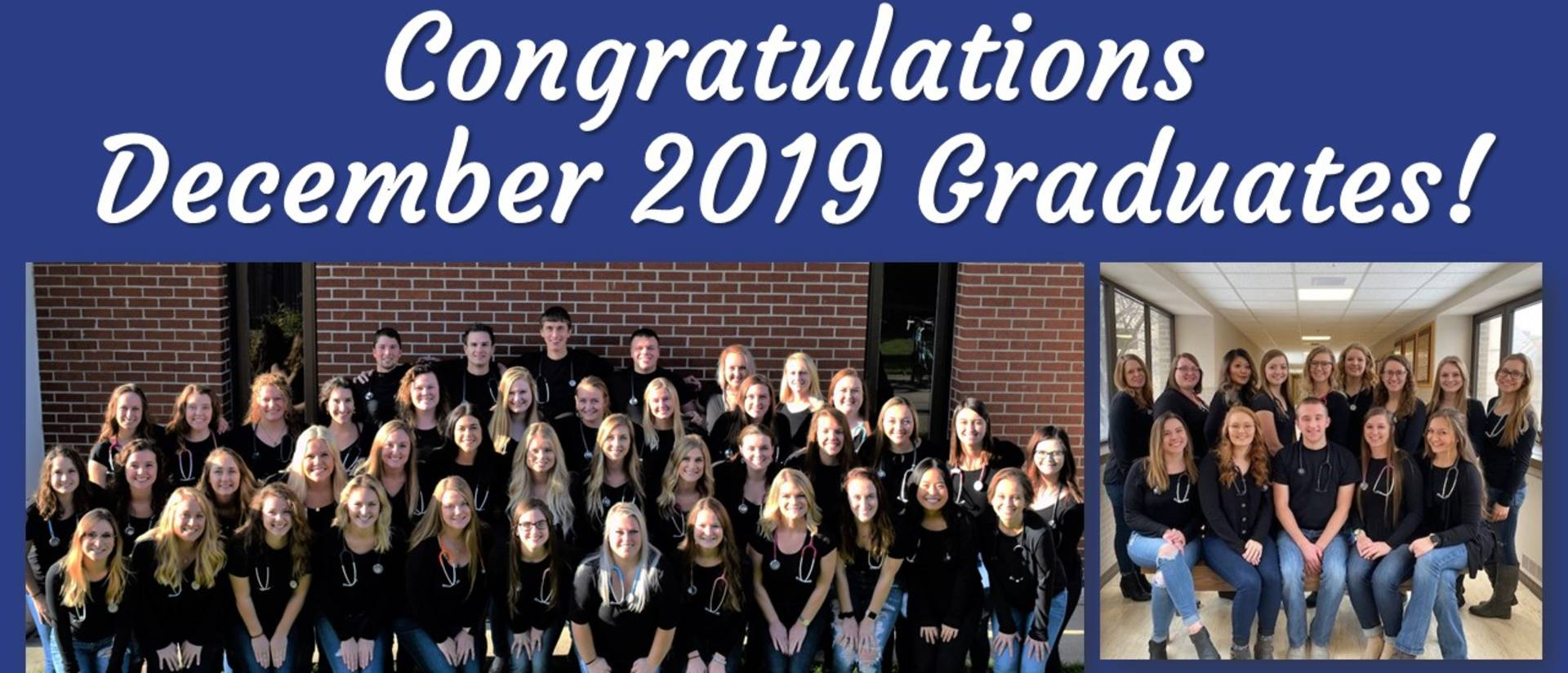Fall 2019 graduates from the nursing program