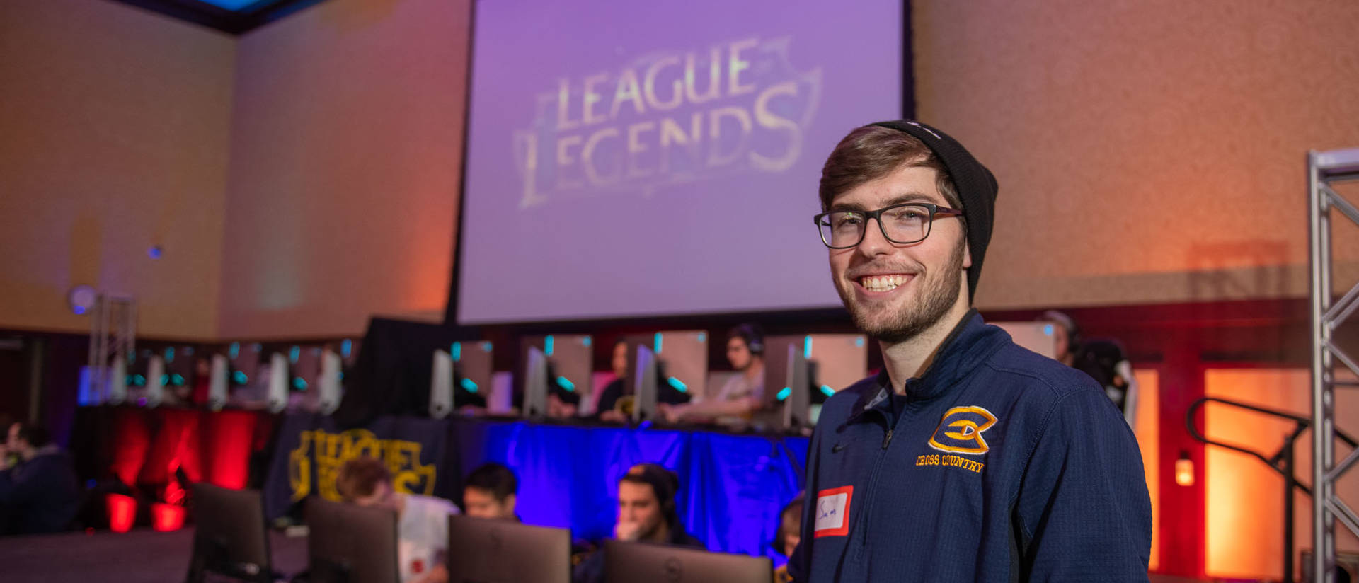 Senior geography major Sam Kuhlmann created and oversees the Blugold League of Legends, UW-Eau Claire's first esports club.