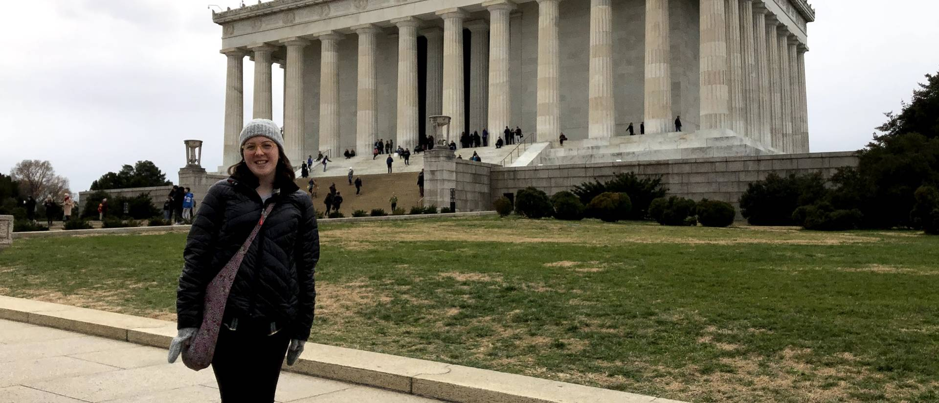 Student teacher and new UW-Eau Claire art education graduate Renee Gavigan traveled to Washington, D.C., to see her students' artwork displayed.