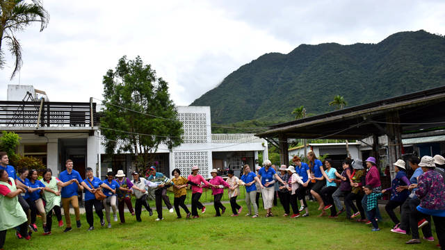 Morgan Land, nursing students participating in a traditional tribal dance while studying abroad in Taiwan.