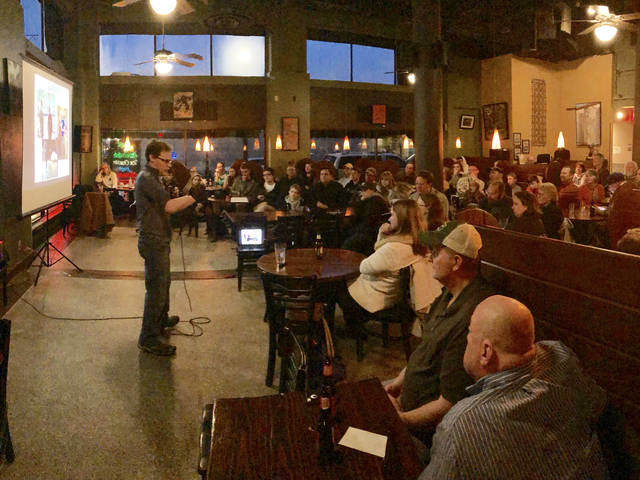 Ask a Scientist event at Acoustic Cafe in Eau Claire