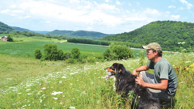 Peter Allen of Mastodon Valley Farm in southwestern Wisconsin has used rotational grazing of livestock to restore an oak savanna habitat in the Kickapoo River Valley while making a living selling grass-fed meat.