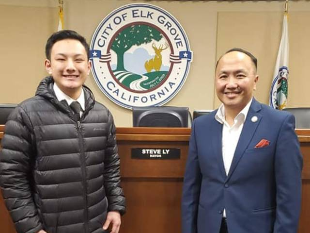 TouCia Thao (left) was inspired by Steve Ly's success as the mayor of a city in California.