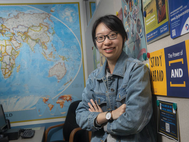 Ariel Liu, an international student from China, joined other Blugolds last fall by studying abroad, furthering her understanding of other cultures.