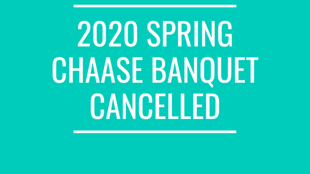 2020 CHAASE Banquet Cancellation