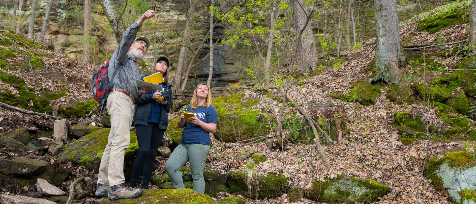 Geography faculty spend significant time teaching students in the field as well as in traditional classrooms. The sense of community that develops because of the shared experiences helps students thrive.