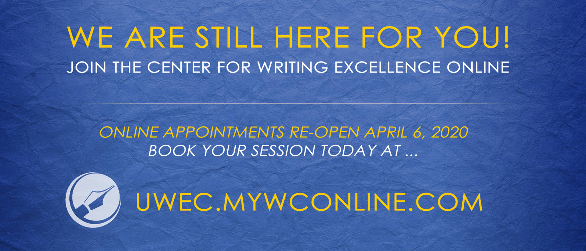 Join the Center for Writing Excellence online at uwec.mywconline.com