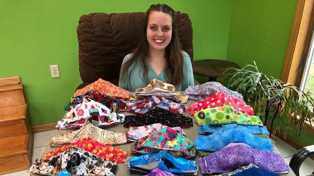 Sierra Dixon is among the Blugolds who are giving back to their hometowns during the pandemic. She made and donated masks to a La Crosse daycare and to community members.