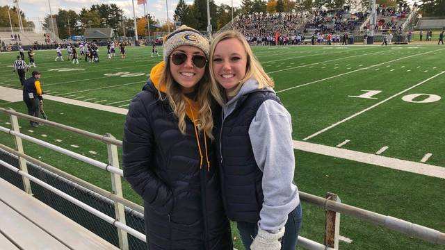 Twin sisters Brooke and Chelsea Scholbe both will earn their nursing degrees this month.