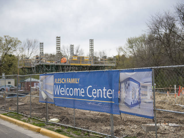 Welcome Center construction banner