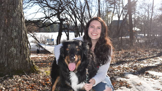 Monica Dickson credits supportive professors with helping her prepare to pursue her dream of being a veterinarian.