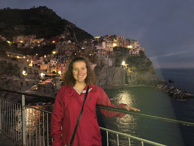Olivia Jonasen during study abroad in Italy