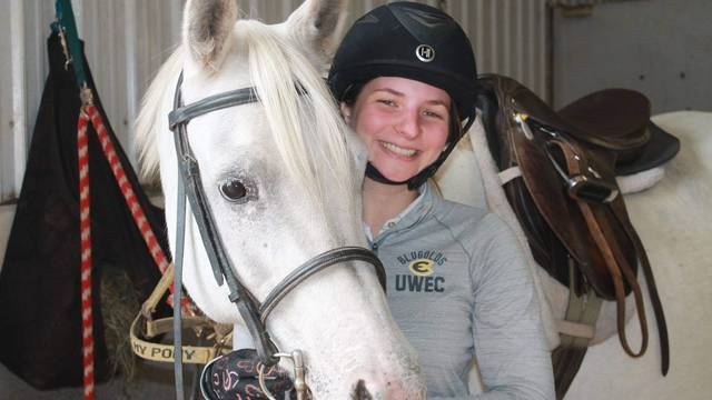 Alana Lemke with her horse