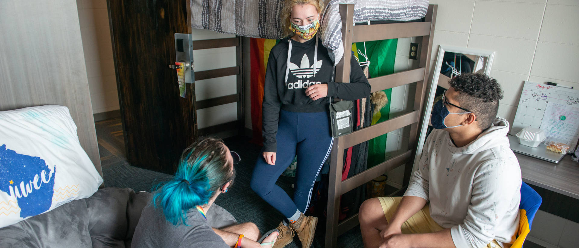 Students in dorm during pandemic