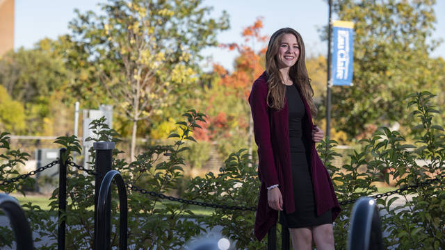 """UW-Eau Claire senior Theresa Guth says funding she received through a federal program to support training for future child welfare social workers is """"truly a gift."""""""