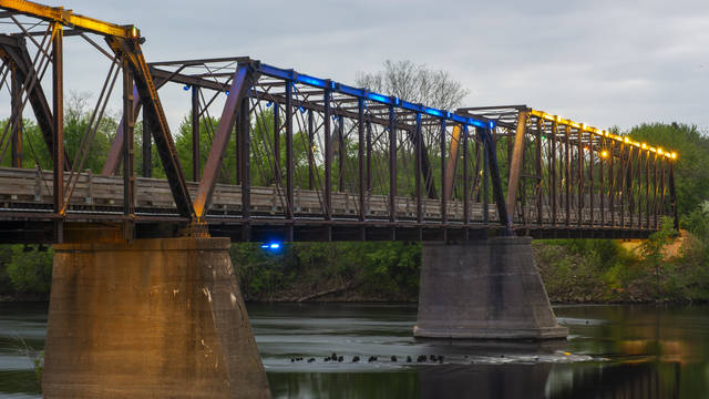 Eau Claire's Phoenix Park bridge will be lighted in purple and yellow on Oct. 16 to bring awareness to developmental language disorder.