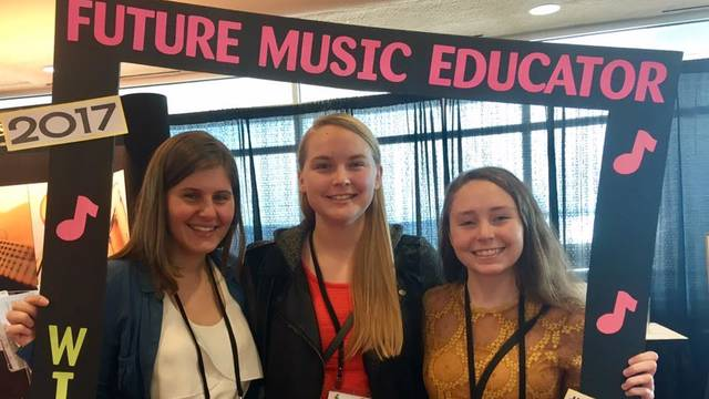 Music Education Majors at a Local Conference