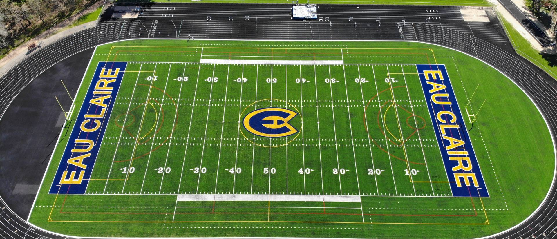 Aerial picture of Simpson Field