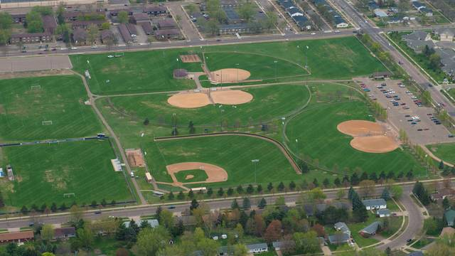 Aerial view of Bollinger Fields