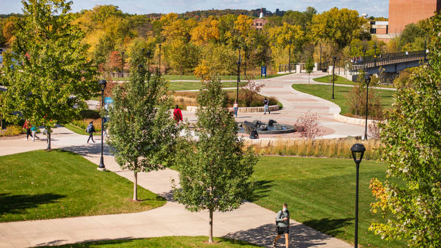 UW-Eau Claire campus fall 2020