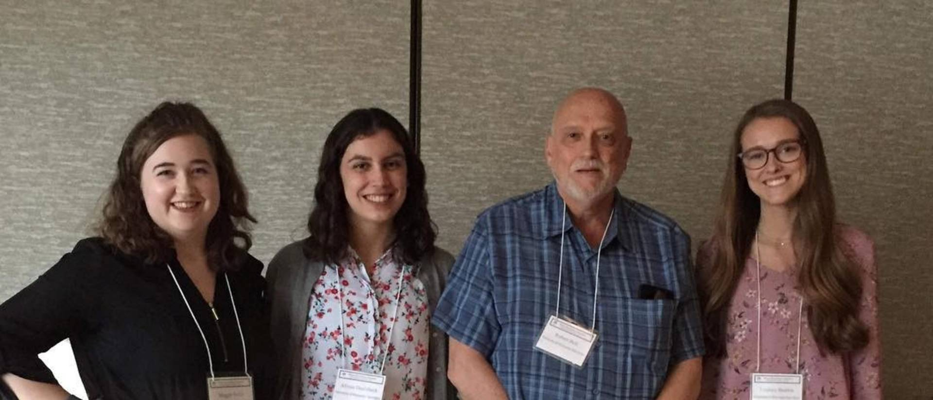 Professor Robert Bell and honors student researchers