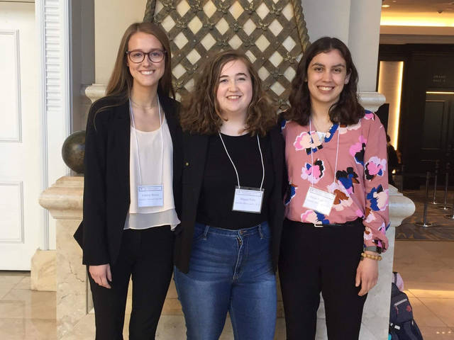 Honors student researchers at the Western Social Science Association conference in San Diego in 2019