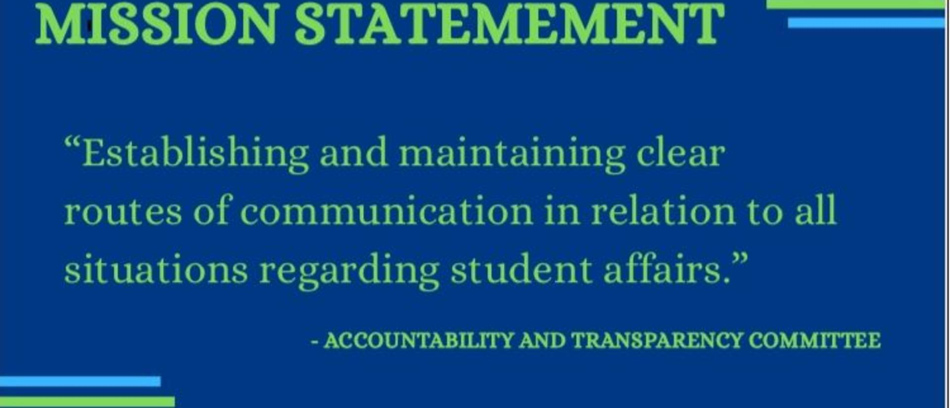 Accountability and Transparency Committee