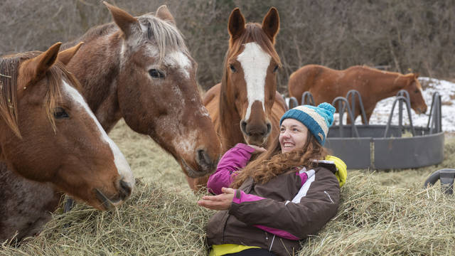 "Natasia ""Tai"" McDougall adopted her rescue horse Major more than a year ago. She would like to operate her own equine ranch one day."